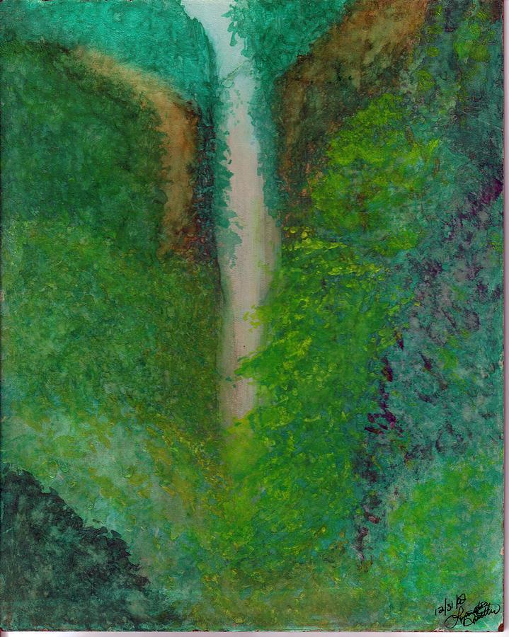 Multnomah Falls Painting by Lynnette Jones