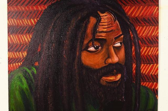 Malik Seneferu Painting - Mumia Abu Jamal A Freeman by Malik Seneferu