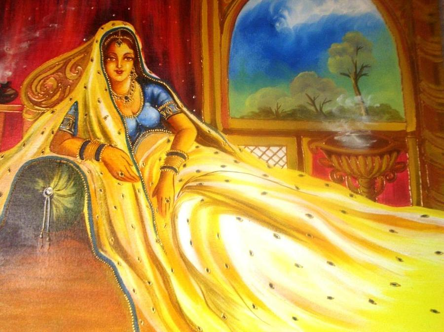 Mumtaz Mahal Wife Of Shah Jahan Painting by Xafira Mendonsa