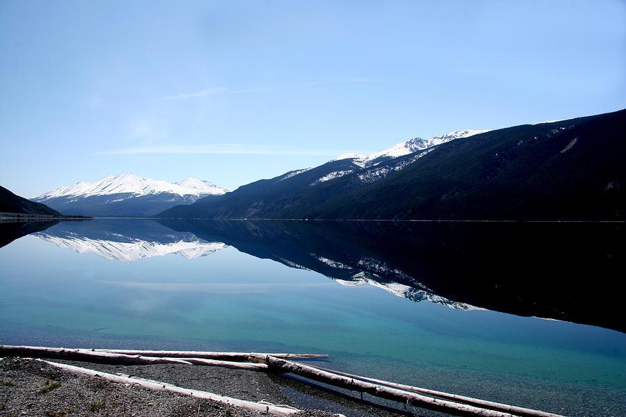 Lakes Photograph - Muncho Lake Reflections by Dave Clark