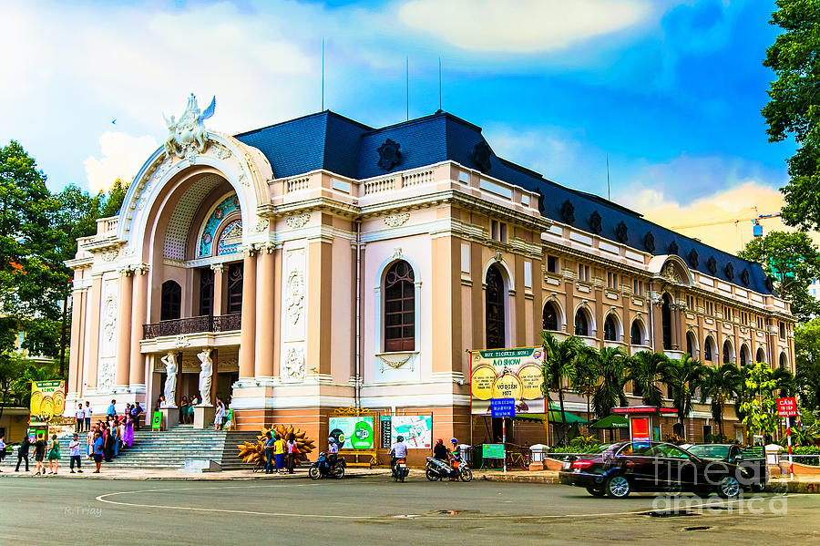 French Architecture Photograph - Municipal Theater Ho Chi Minh City Vietnam by Rene Triay Photography
