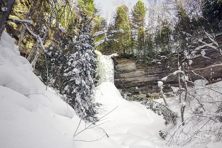 Frozen Falls Photograph - Munising Fall Upper Michigan by Nikki Vig