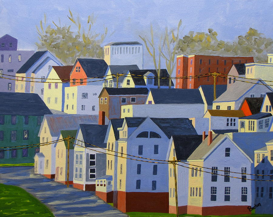 Maine Painting - Munjoy Afternoon by Laurie Breton
