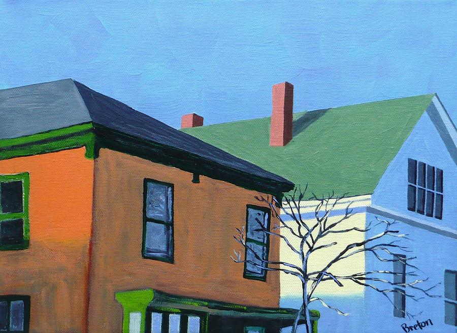 Maine Painting - Munjoy Morning by Laurie Breton