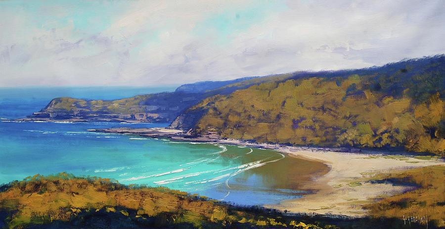 Nature Painting - Munmorah Coastline Australia by Graham Gercken
