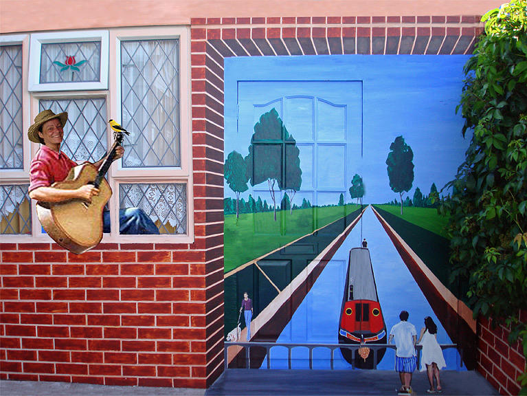 Mural Painting - Mural - I Can Live Anywhere by Davinia Hart
