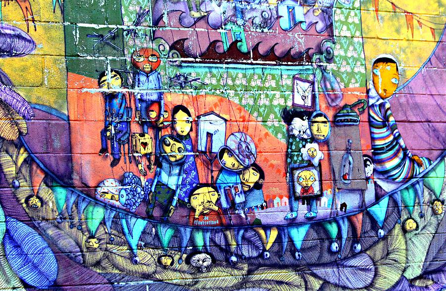 mural in coney island photograph by kathy henderson