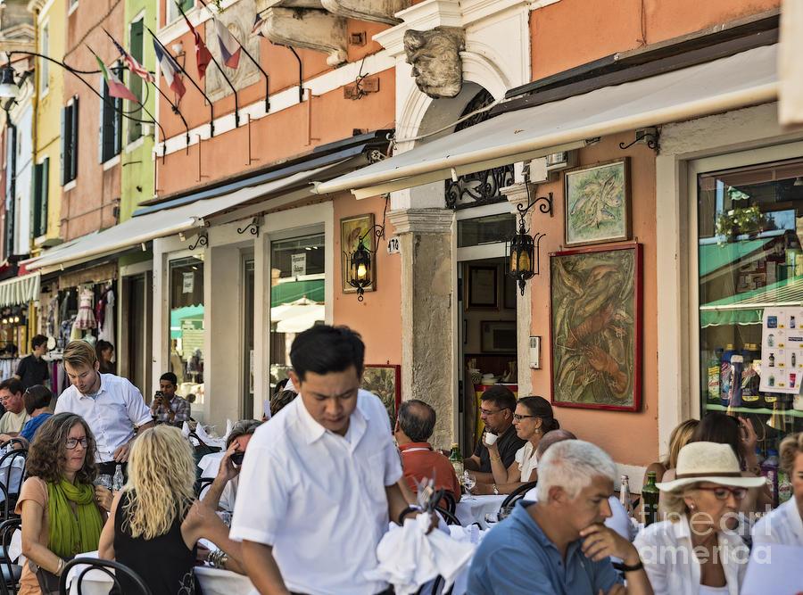 Burano Photograph - Murano Cafe by John Greim