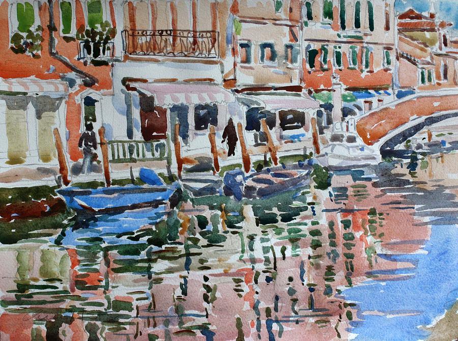 Murano Painting - Murano Canal by Owen Hunt