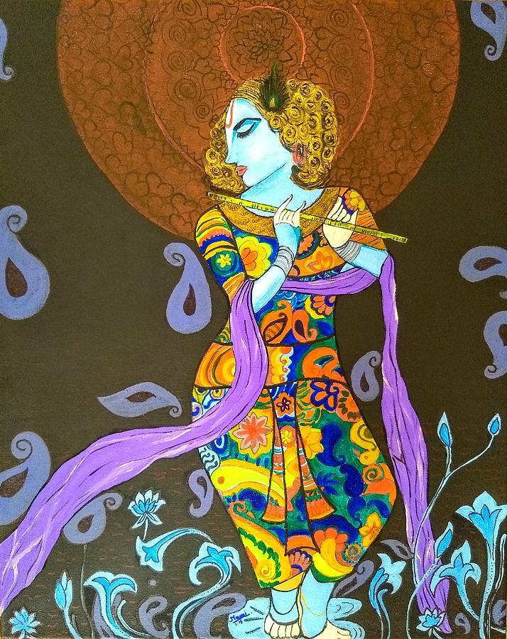 Lord Painting - Murlimanohar Shyaam by Namrata Patel