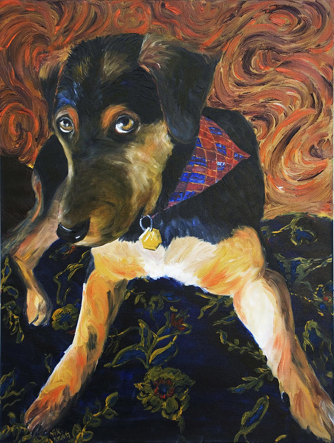 Dog Painting - Murphy I by Nik Helbig