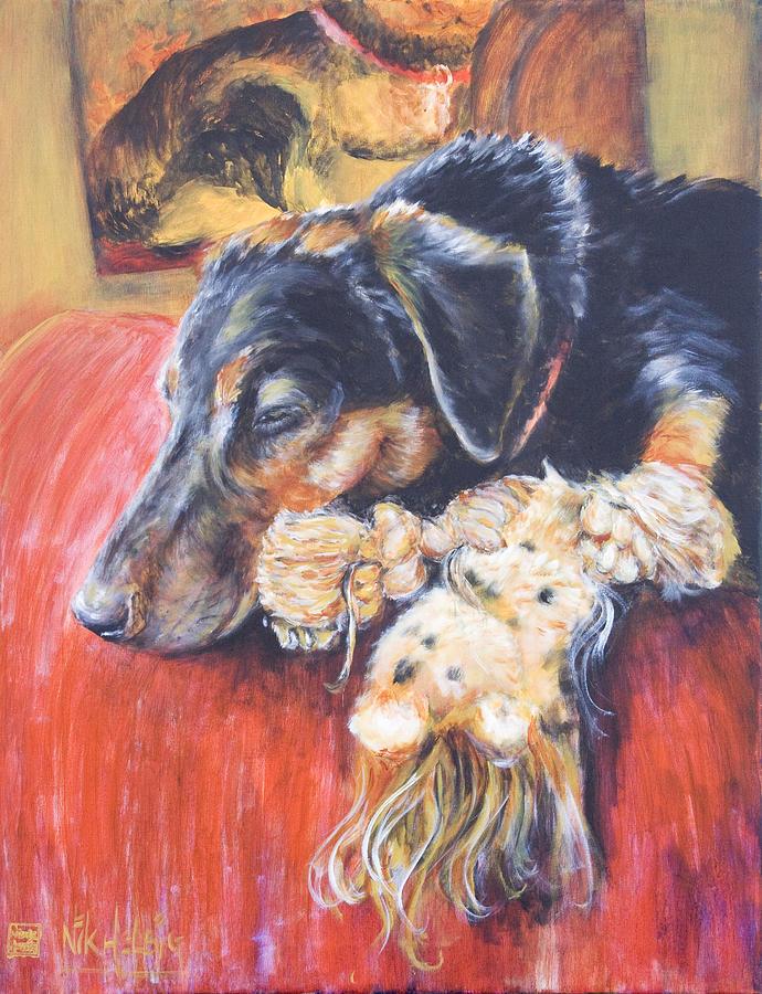 Dog Painting - Murphy Viii by Nik Helbig