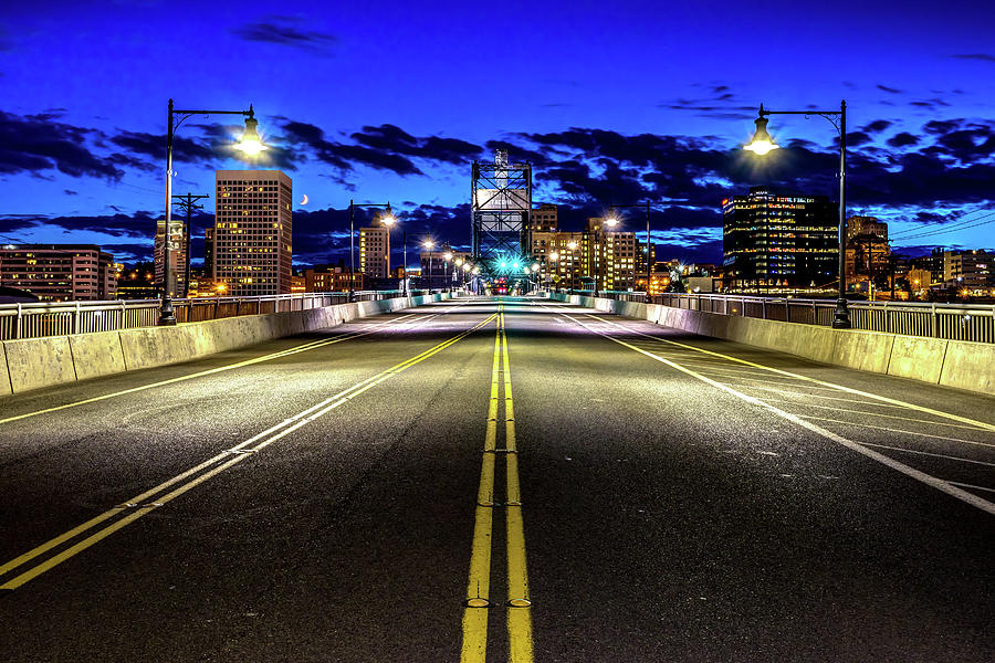 Murray Morgam Bridge During Blue Hour in HDR by Rob Green