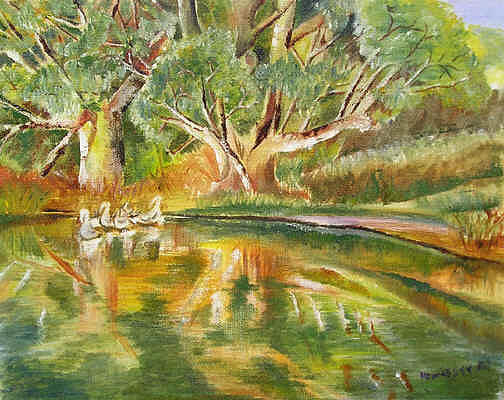 Waterscape Painting - Murray River Series 1 by Norma Hennessy