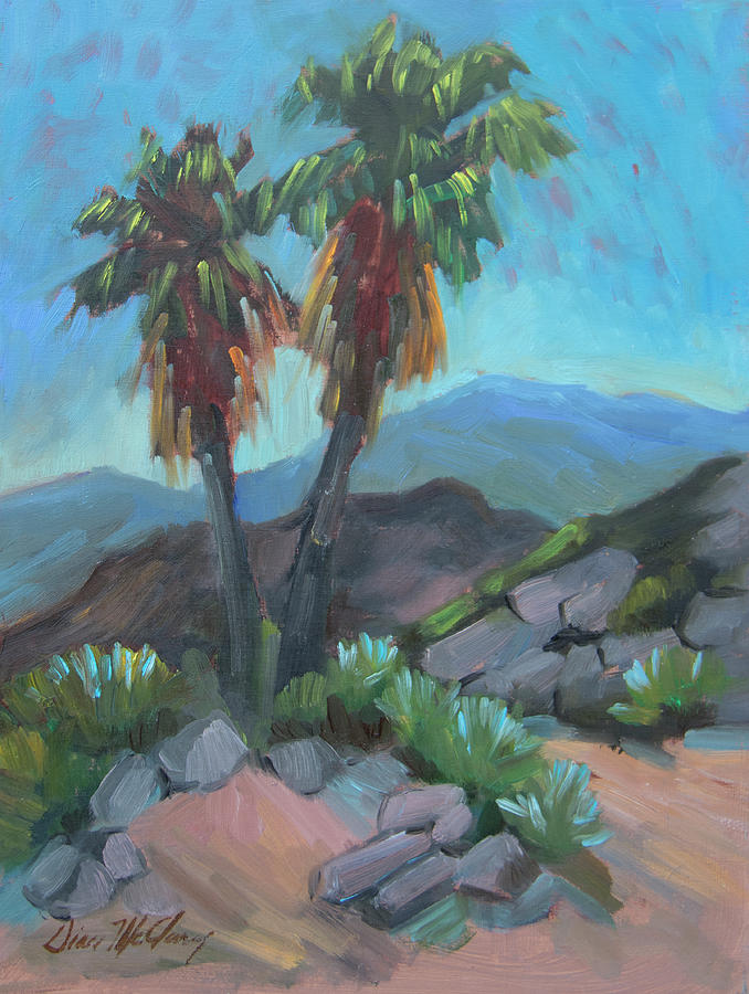 Palm Springs Painting - Murray Trail Andreas Canyon by Diane McClary
