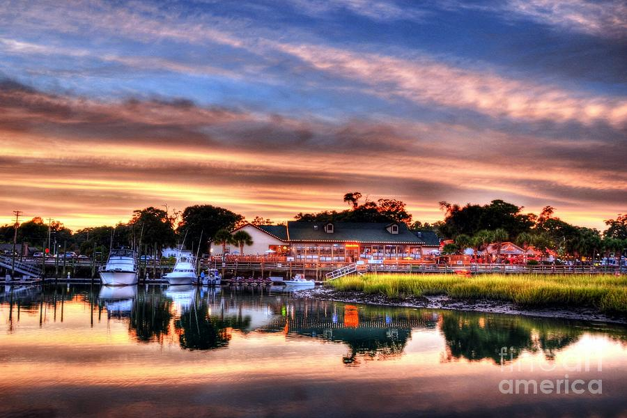 Landscapes Photograph - Murrells Inlet Sunset 3 by Mel Steinhauer
