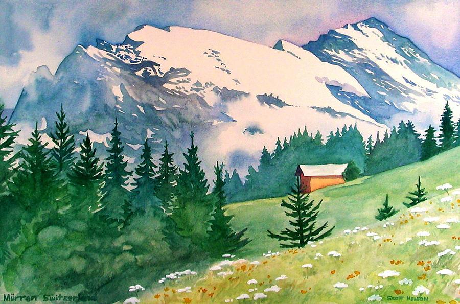Murren Painting - Murren Switzerland by Scott Nelson