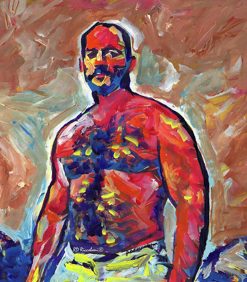 Abstract Painting - Muscle Bear Dad by RD Riccoboni