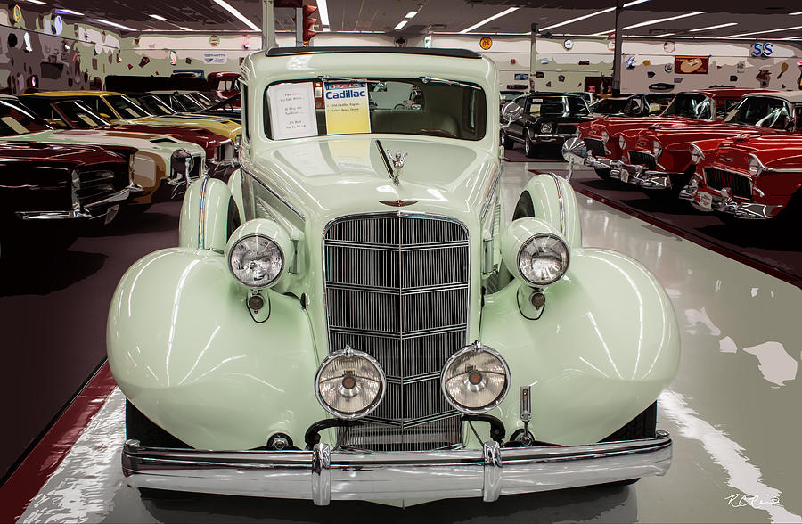 Muscle Car City 1935 Cadillac Celery Stock Green Photograph By