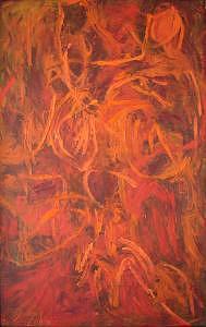 Abstract Painting - Muse I by Lyuba Zahova