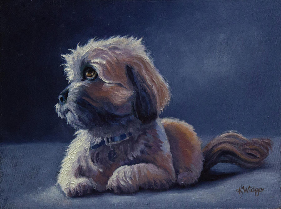 Dog Portraits Painting - Muse by Katy Widger