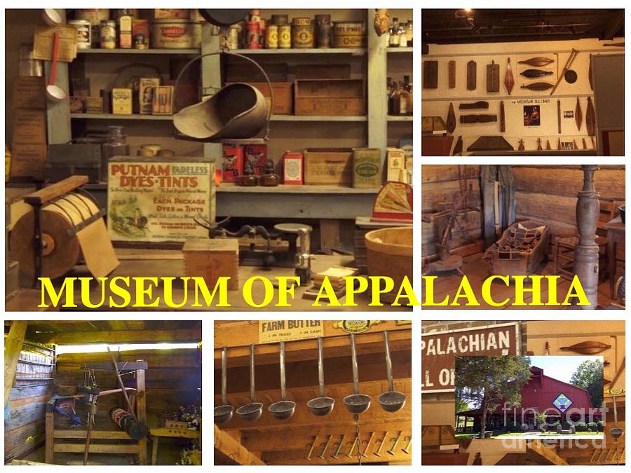 Poster Digital Art - Museum Of Appalachia Block Collage by Karen Francis