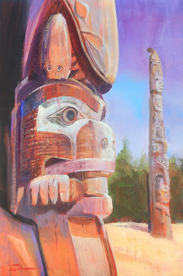 Totem Painting - Museum Of Man by Ron Wilson