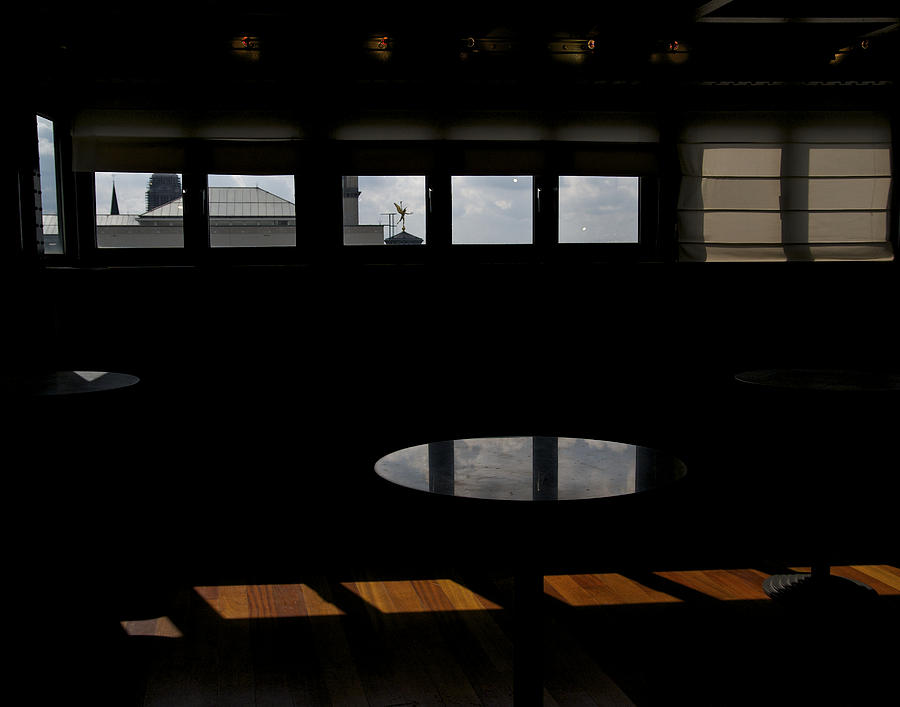 Color Photograph - Museum Of Music Interior by Mark Chevalier