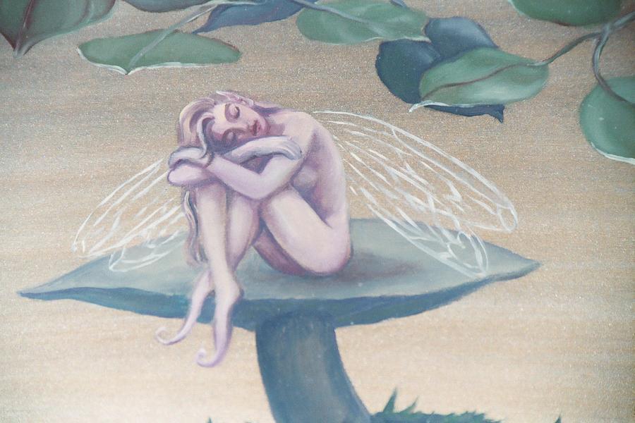 Faerie Painting - Mushroom Faerie by Suzn Art Memorial