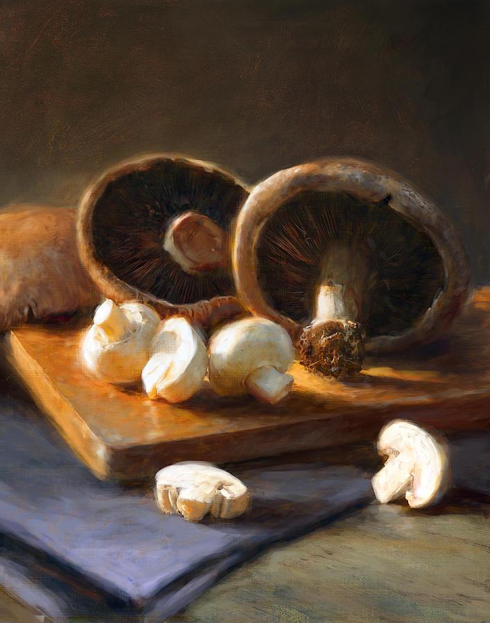 Mushrooms Painting - Mushrooms by Robert Papp