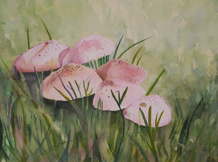 Landscape Painting - Mushrooms by Suzanne Udell Levinger