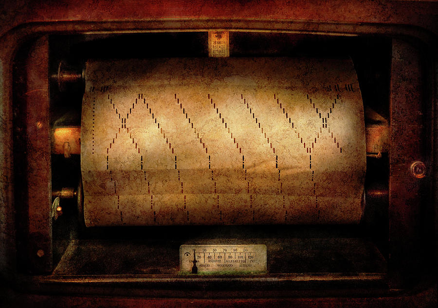 Hdr Photograph - Music - Piano - Binary Code  by Mike Savad
