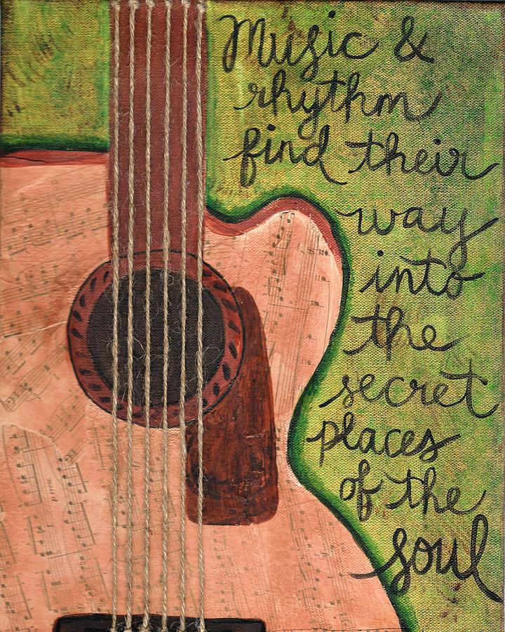 Mixed Media Painting - Music And Rhythm by Monica Martin