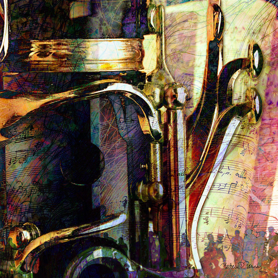 Clarinet Digital Art - Music by Barbara Berney