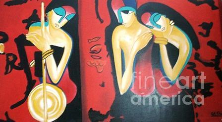 Abstract Painting - Music Beats by Kiran Chopra