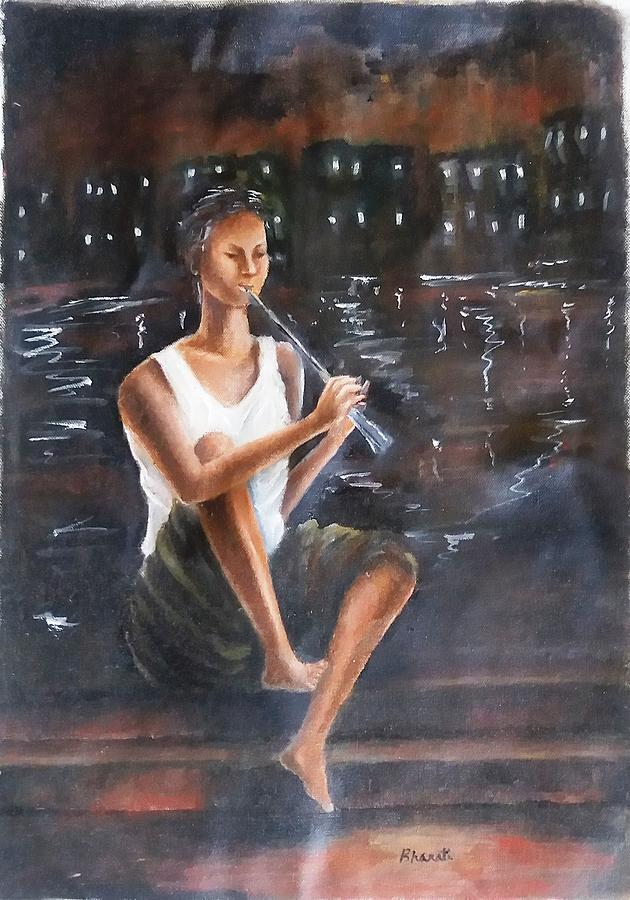 Music Painting - Music  By  The  Night by Bharati BV