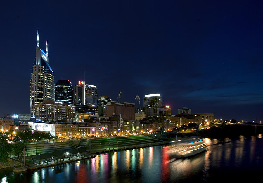 Landscape Photograph - Music City Queen At Nashville by Mark Currier