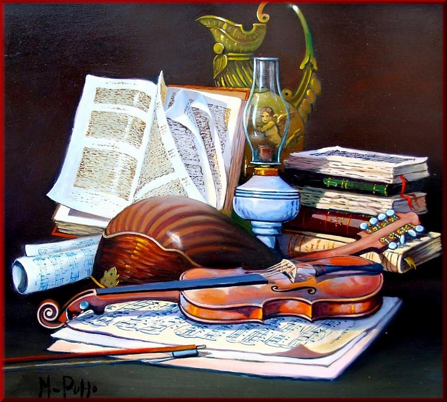 Music composition painting by puppo for The craft of musical composition