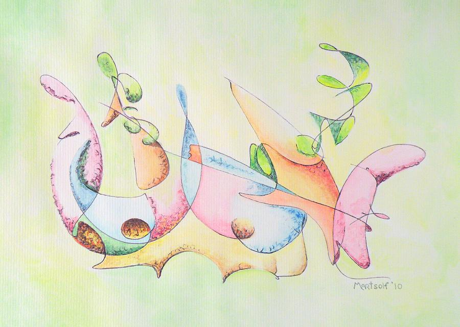 Watercolor Drawing - Music by Dave Martsolf
