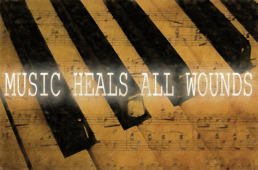 Music Mixed Media - Music Heals All Wounds by Dan Sproul
