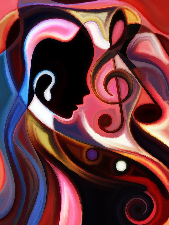 Abstract Paintings Painting - Music In The Air by Karen Showell