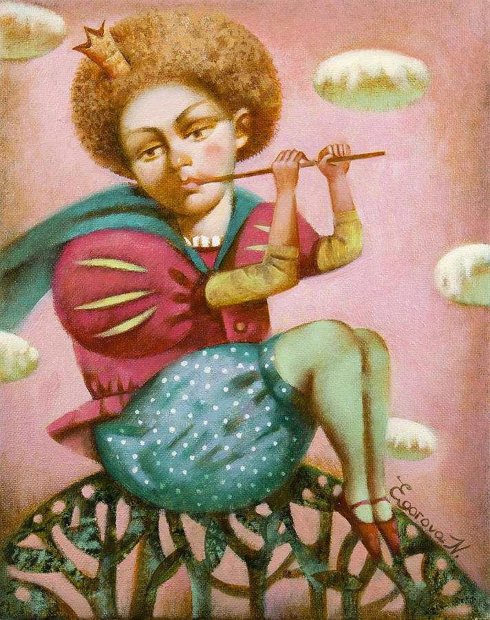Little Prince Painting - Music in the clouds by Nadia Egorova