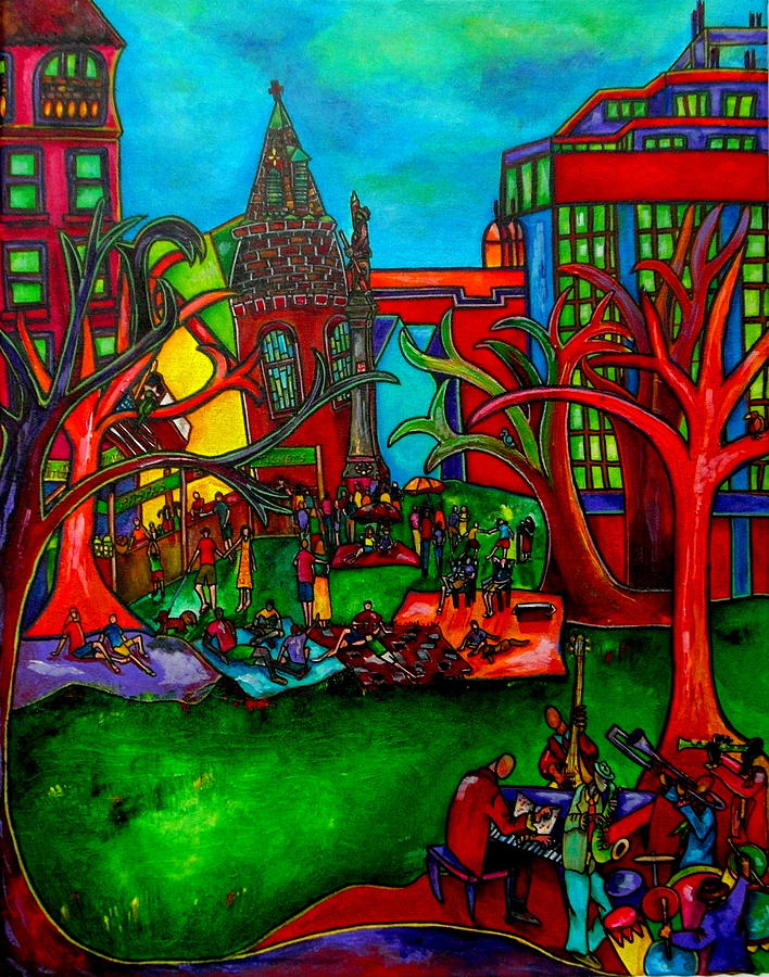 San Antonio Painting - Music In The Park by Patti Schermerhorn