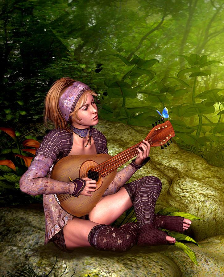 Nature Digital Art - Music In The Woods by John Junek
