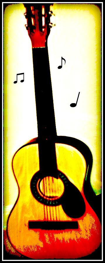 Music Guitar Photograph - Music Is Art  by Vanessa Reed