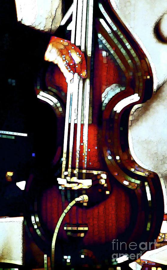 Abstract Photograph - Music Man Bass Violin by Linda  Parker