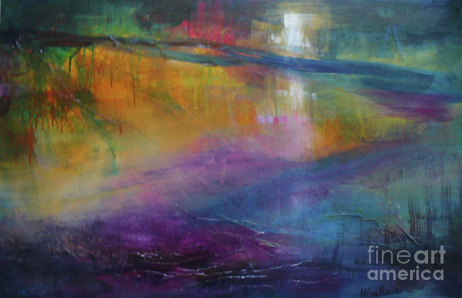 Abstract Painting - Music Of The Night by Mary Sullivan
