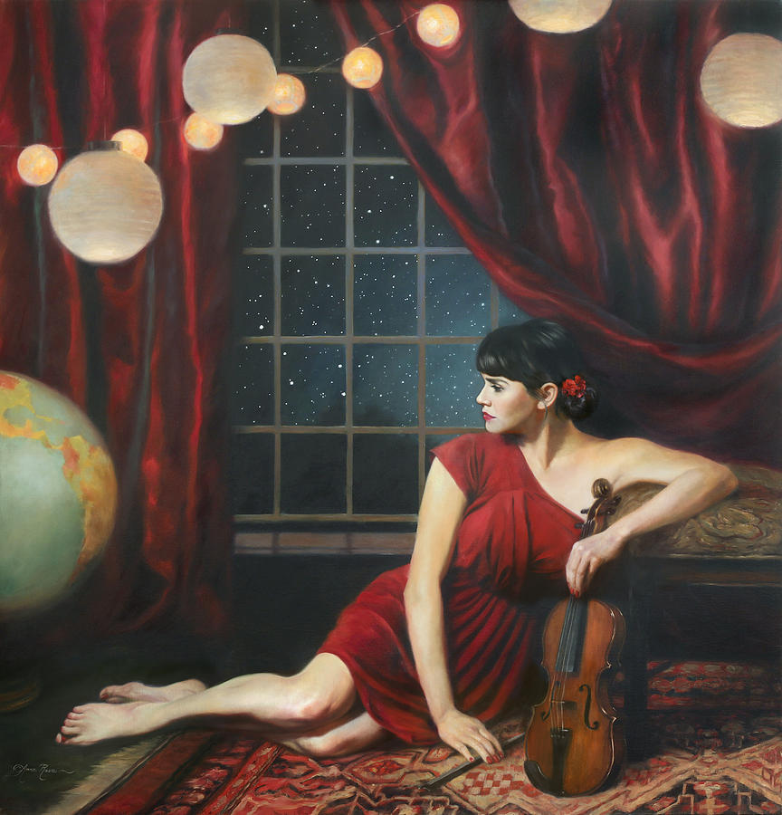 Music Painting - Music Of The Spheres by Anna Rose Bain