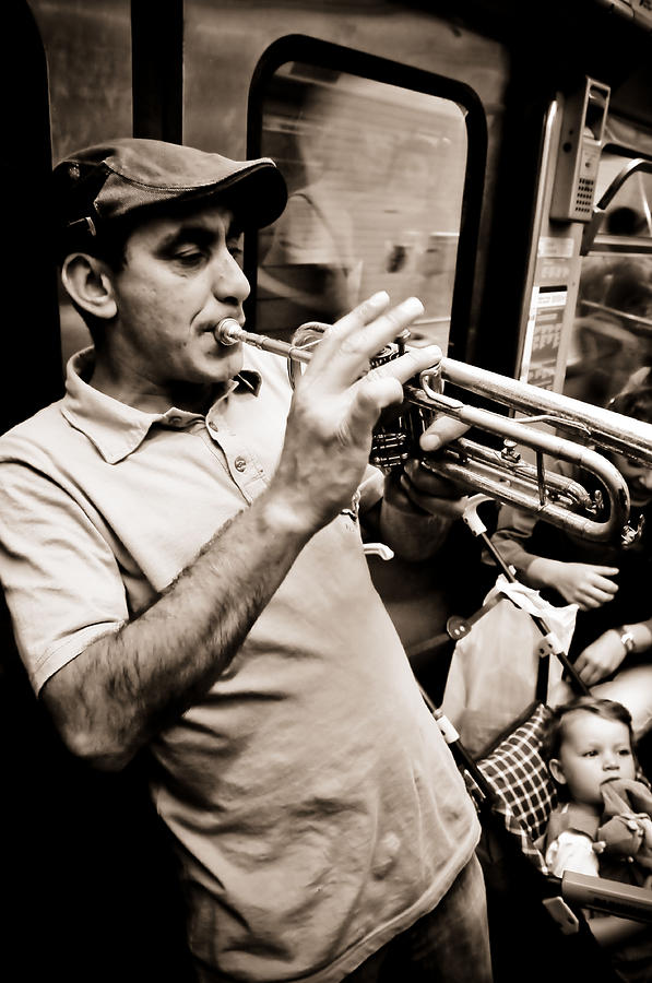 Paris Photograph - Music On The Metro by Pat Shawyer