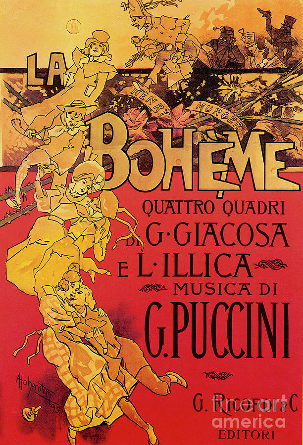 Music Score For Opera La Boheme By Puccini Drawing by Mary Evans ...